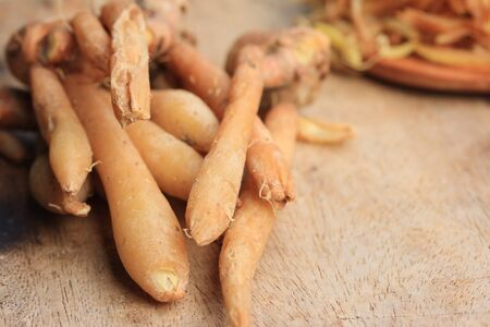 ginseng roots: fresh fingerroot and slice