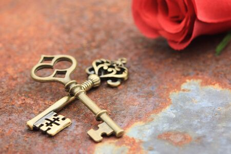 old key: ancient old key Stock Photo