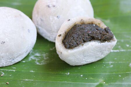 Mochi japanese dessert black sesame