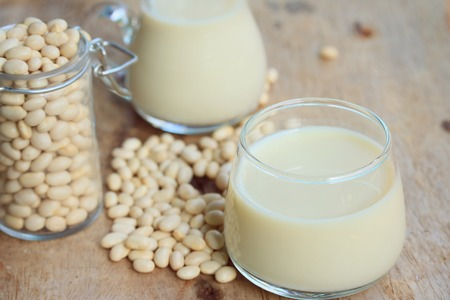 white kidney bean with soy milk