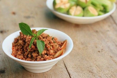 minced: spicy minced pork