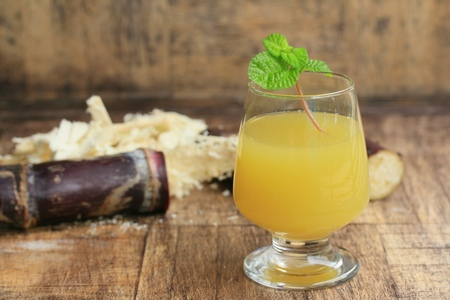 Cane juice with molasses Stock Photo