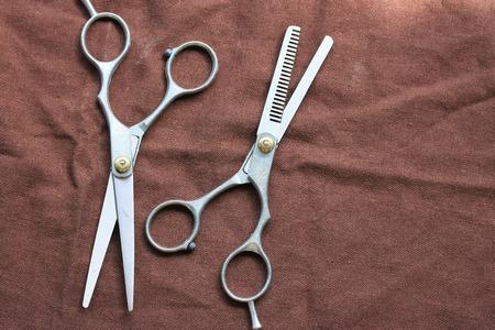 shears: hair cutting shears Stock Photo