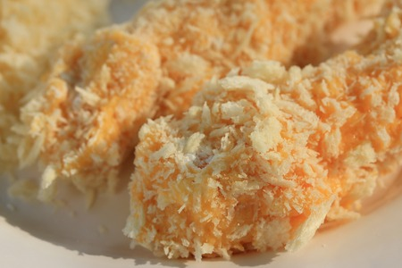 Cheese fritter breaded