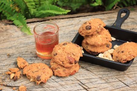 Cashew cookies with honey