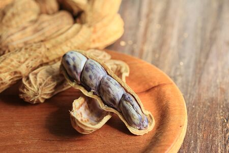 nutshells: peanut Stock Photo
