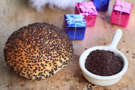Bread black sesame seeds