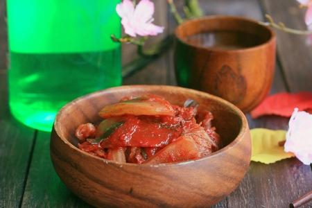 encurtidos: kimchi de repollo - comida coreana