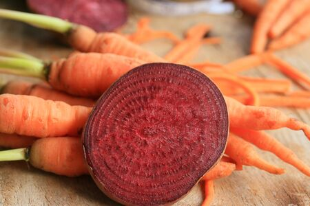 fresh beetroot and carrot