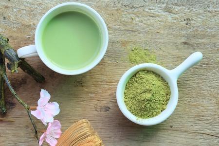 maccha: hot green tea with powder