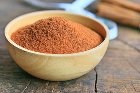 Cinnamon powder Stock Photo