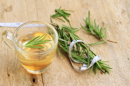 herbs rosemary hot tea