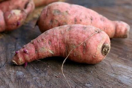 organic orange sweet potato yam