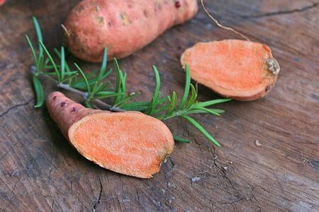 organic orange sweet potato yam