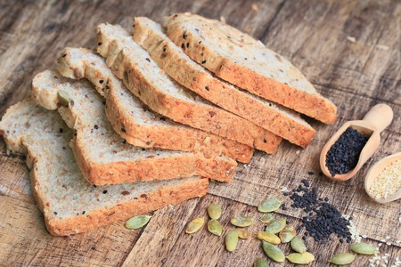 sunflower seeds: Whole wheat bread and sesame