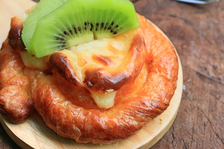 bread kiwi fruit tart Stock Photo