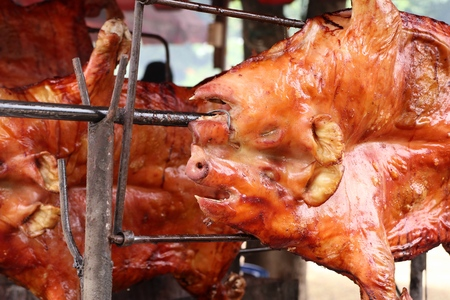 tasty barbecued suckling pig