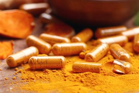 asian flavors: Turmeric capsule