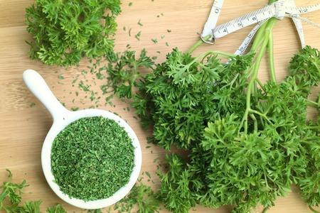 Dried herb parsley leaves Stok Fotoğraf - 80609493