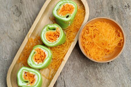 roll crepe with thai dessert