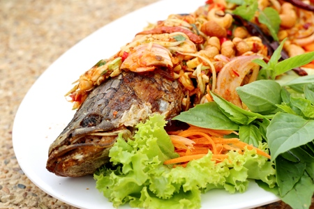 Spicy fish with chili