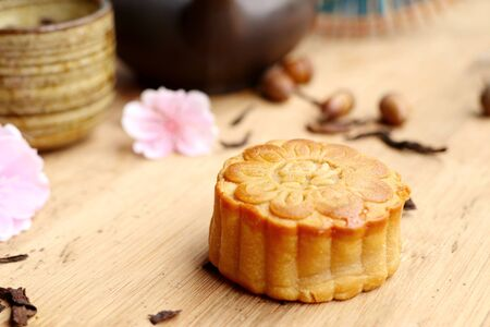 mooncake festival with hot tea