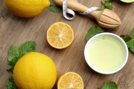Lemon juice with fresh