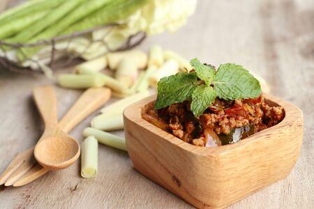 chili spicy minced pork