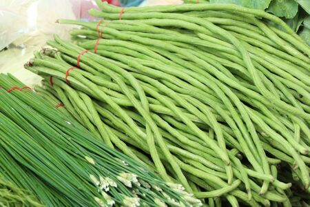 long bean: Long bean at market