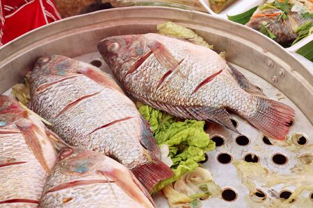 Steamed fish at street food