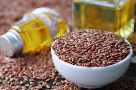 linum: Flax seed with oil