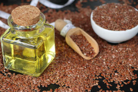 linseed: Flax seed with oil