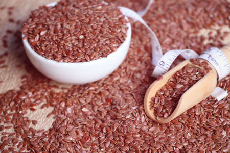 linum: flax seed Stock Photo