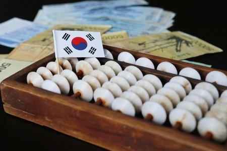 남한의 지폐 스톡 콘텐츠