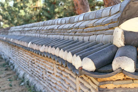 Korean traditional architecture wall