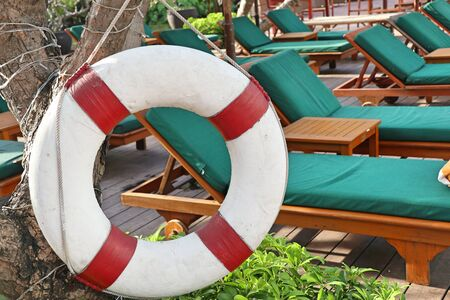 Lifebuoy by the pool