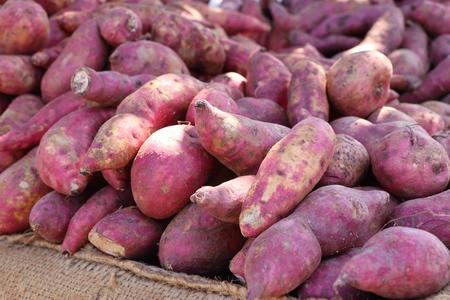 Sweet potato at street food Banco de Imagens