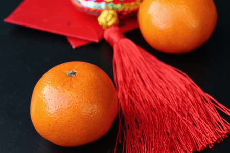 Chinese new year decoration orange fruit