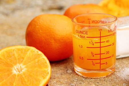 Orange juice and salt Stock Photo