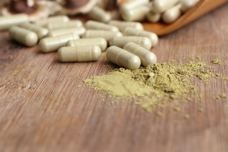 Moringa capsules with dried
