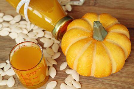 Pumpkin juice and seeds