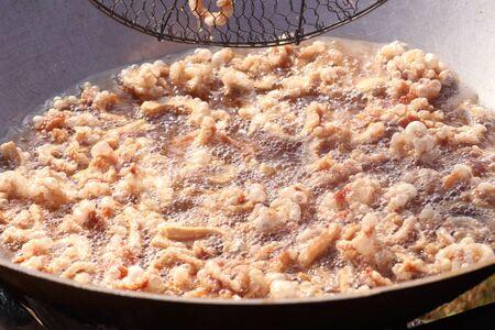 fried crisp pork skin