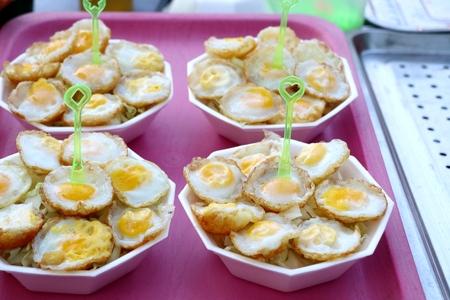 Quail eggs at street food Zdjęcie Seryjne