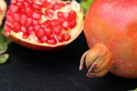 Red fresh pomegranate fruit