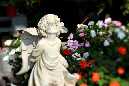 Vintage sculpture garden decoration