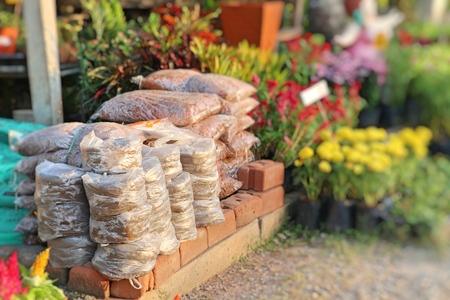 Bags of garden soil for sale