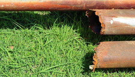 Old rusted iron pipe