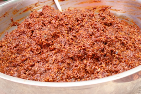 chili paste at street food 版權商用圖片 - 115171064