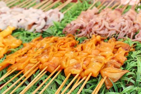 Grilled squid at street food