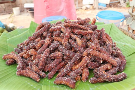 Tamarind with sugar in the market
